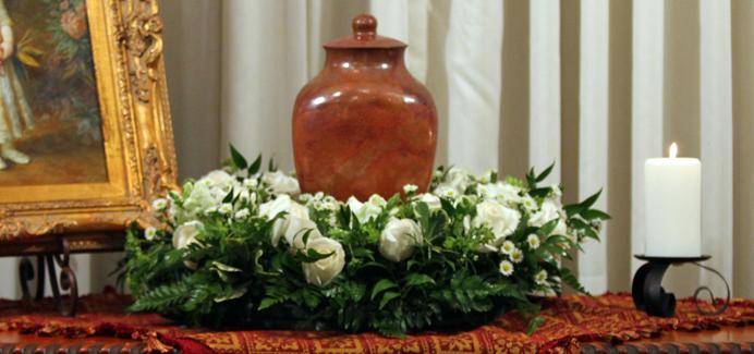Flower Surrounding Urn