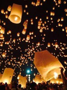 Releasing of Sky Lanterns