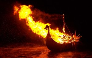 Viking Ship with Ashes