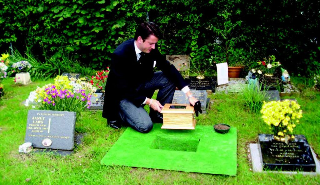 Burial of Cremains