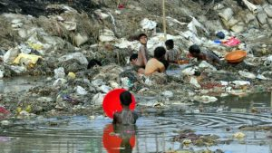 Polluted Ganges River