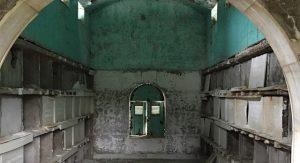 Interior 100-year-old Oak Hill Mausoleum