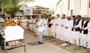 Iman Offering Funeral Prayer