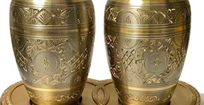 Brass Platinum and Gold Urn