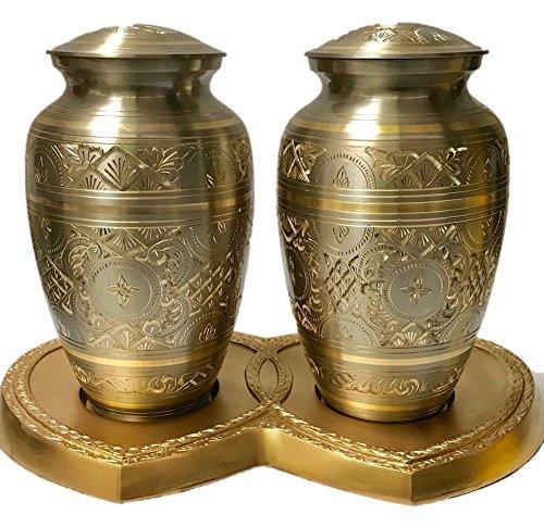 Brass Platinum and Gold Urn