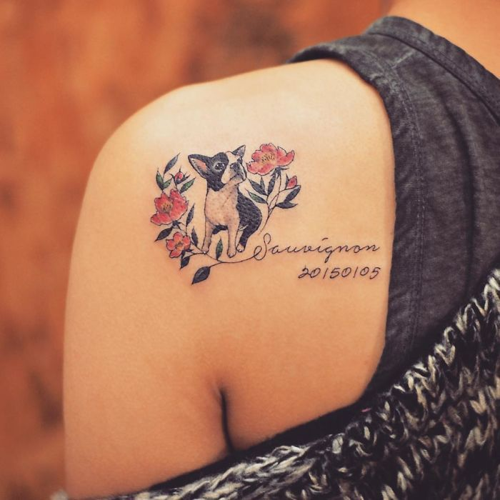 1861d9ea5 Your dog will always be with you in spirit, so why not show their presence  physically with an artful memorial tattoo?