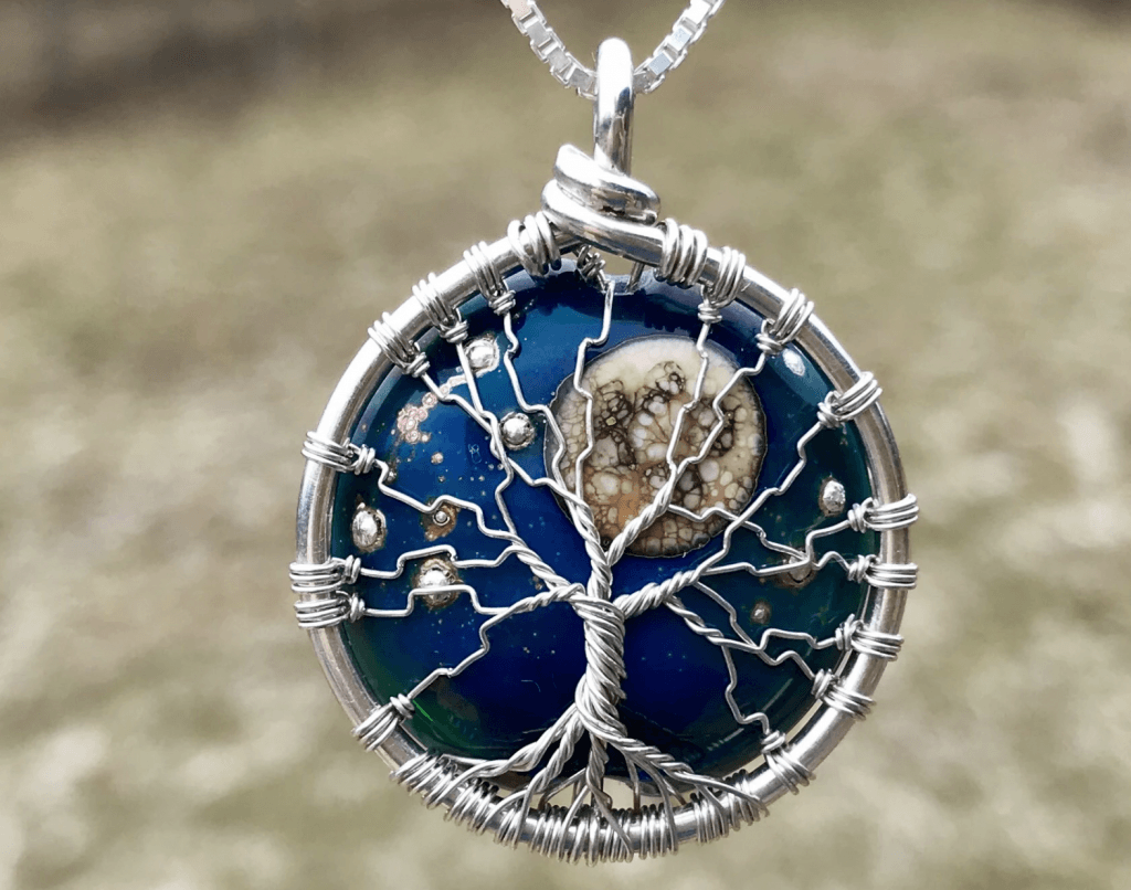 MOON AND STARS TREE OF LIFE PENDANT WITH CREMAINS